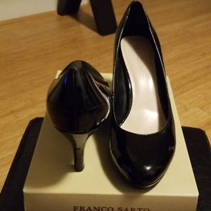 Franco Sarto Black Patent Leather Heels